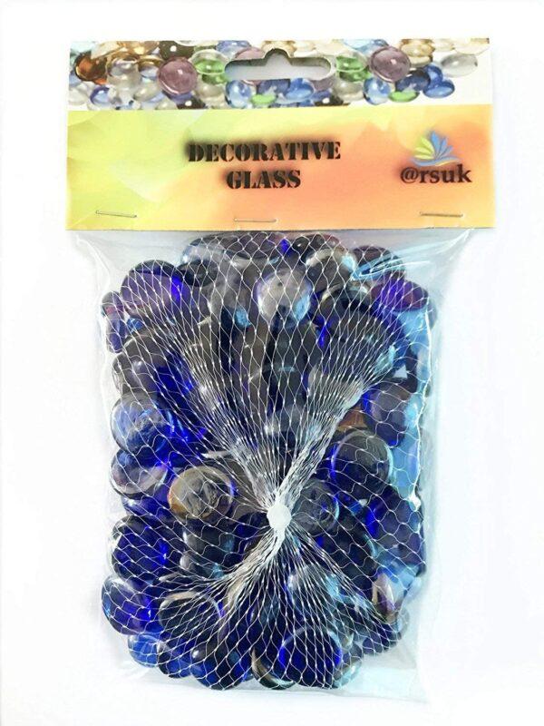 Glass Pebbles Blue B