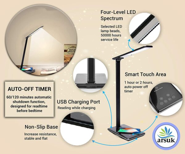 LED Desk Lamp Black A