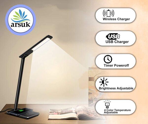 LED Desk Lamp Black F
